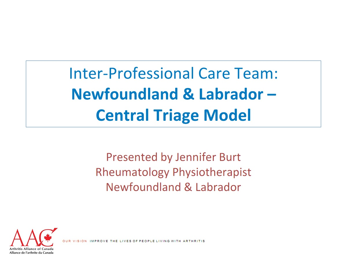 2014 10 30 AAC AHPA Workshop - Central Triage Model - NL - FINAL